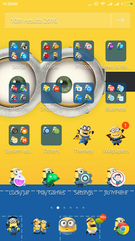 Cute minions theme free android theme download download the free cute minions theme cute minions theme voltagebd Images