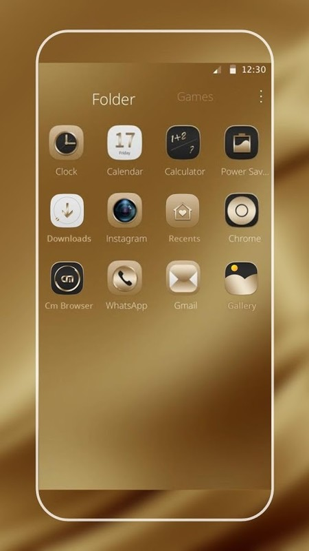 Gold Silk for Samsung Huawei Free Android Theme download