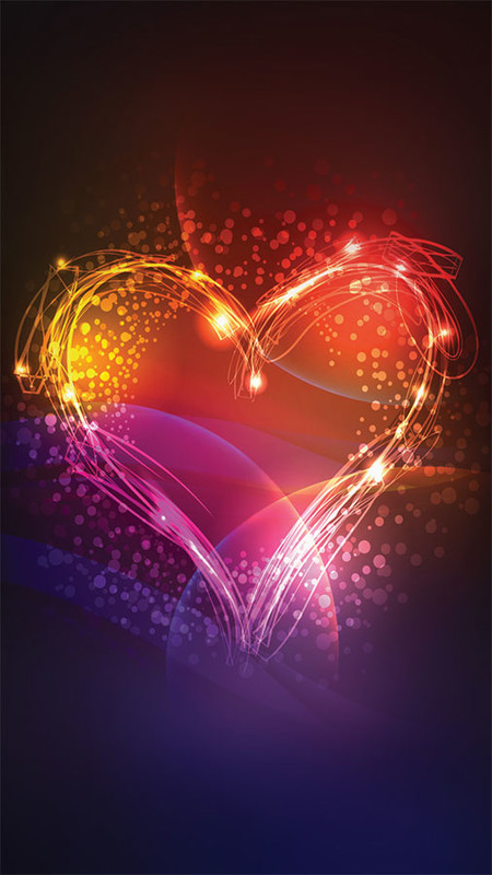 Neon Love Theme Free Android Theme download - Download the