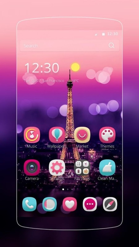 I Love Paris Theme Free Android Theme download - Download the Free I