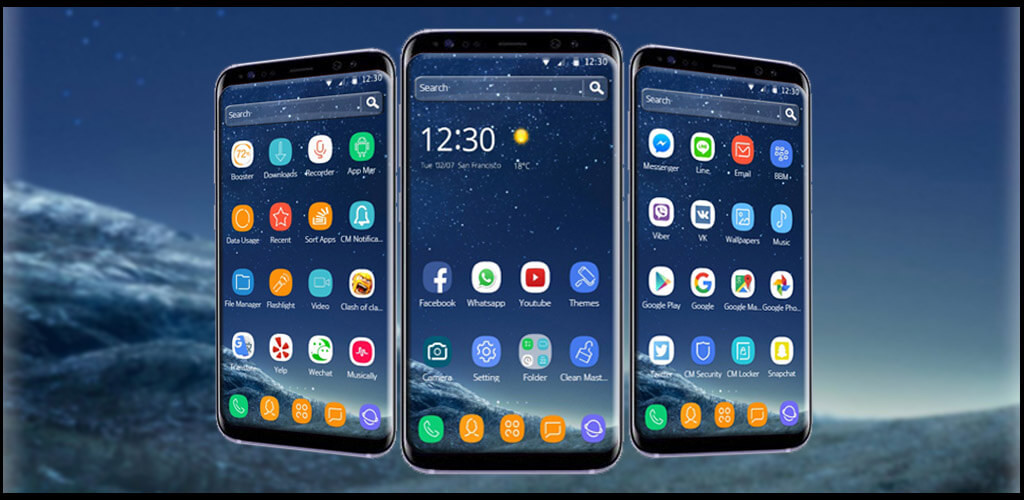 Night Theme for Galaxy S8 Free Android Theme download - Download the
