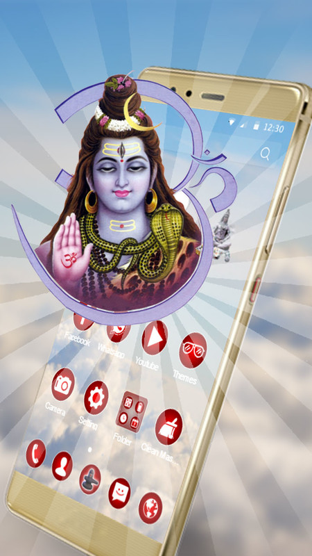 3D Lord Shiva Mobile Theme Free Android Theme download