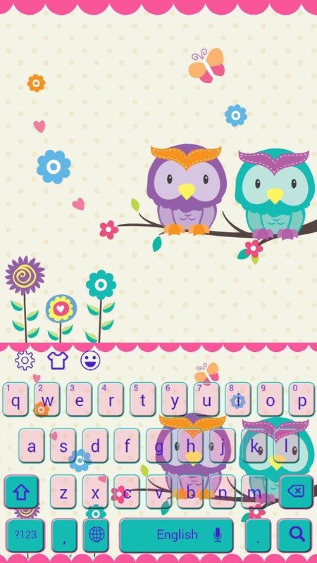 Cute kawaii owl keyboard theme free android theme download cute kawaii owl keyboard theme voltagebd Images