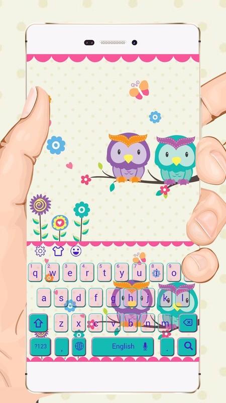 Cute kawaii owl keyboard theme free android theme download cute kawaii owl keyboard theme cute kawaii owl keyboard theme voltagebd Images