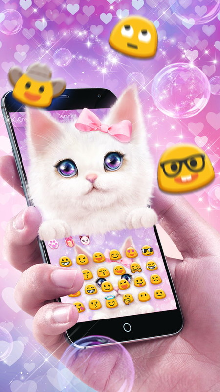 Cute cat keyboard theme free android theme download download the cute cat keyboard theme voltagebd Images