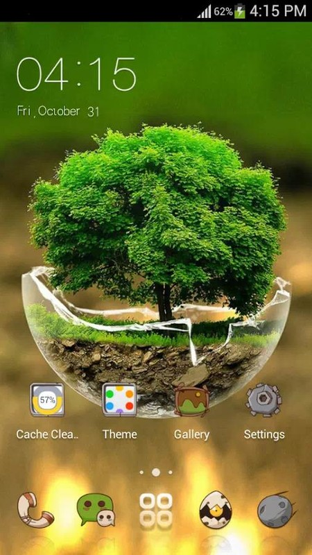 Green Nature HD Theme: Comic Android themes FREE Free Android Theme