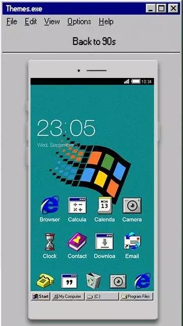 Download windroid theme for windows 95 pc computer launcher apk.