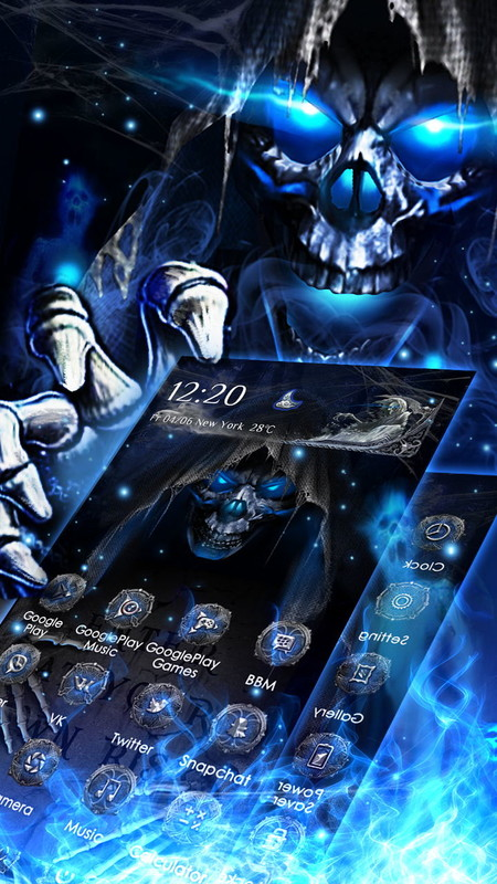 3D Grim Reaper Theme Free Android Theme download - Download the Free 3D Grim Reaper Theme Theme