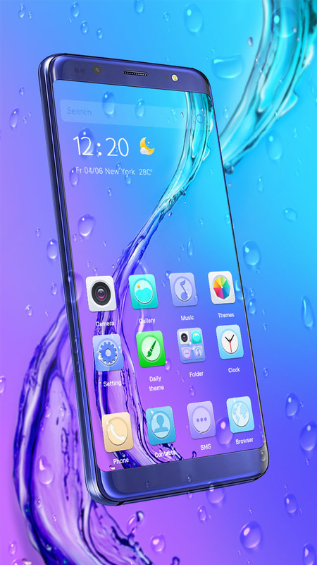 3D Water Drop Theme for Samsung Free Android Theme download