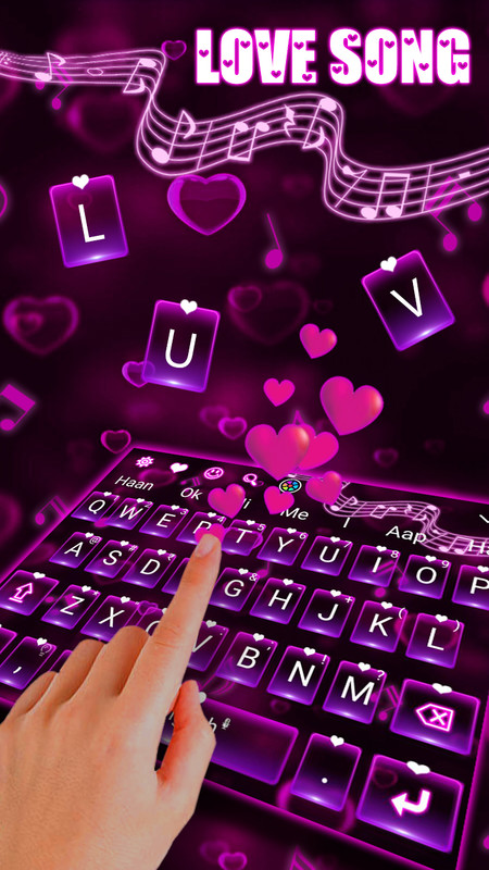 Love Song Keyboard Theme Free Android Theme download - Download the
