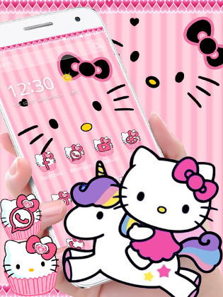Hello Princess Kitty Pink Cute Cartoon Theme Free Android Theme Download Download The Free Hello Princess Kitty Pink Cute Cartoon Theme Theme To Your Android Phone Or Tablet