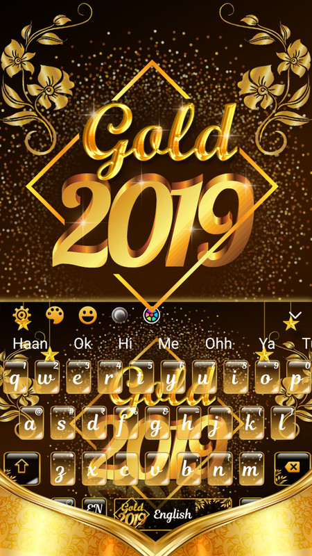 Luxury Gold 2019 Keyboard Free Android Theme download - Download the