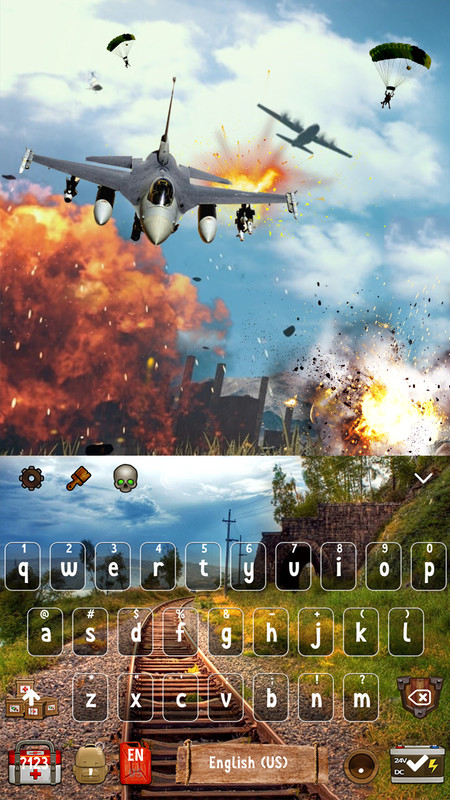 Survival Shooting Games Keyboard Theme Free Android Theme download