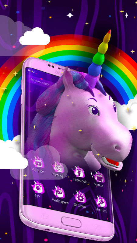 3d Cute Unicorn Galaxy Launcher Theme Free Android Theme Download Download The Free 3d Cute Unicorn Galaxy Launcher Theme Theme To Your Android Phone Or Tablet