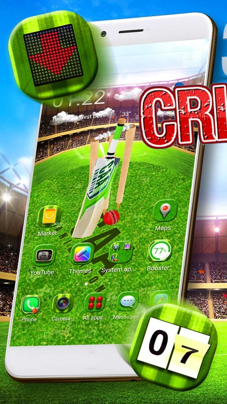 3D Cricket Theme and Launcher 🏏 Free Android Theme download
