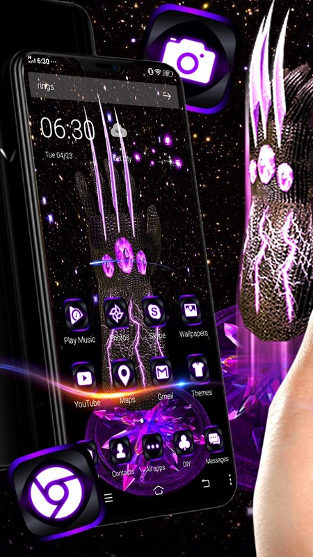 3D Thanos Endgame Superhero Theme 🤚🏿 Free Android Theme download