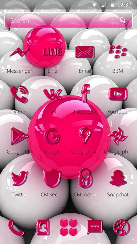3d Pink Balls Wallpaper Theme Free Android Theme Download