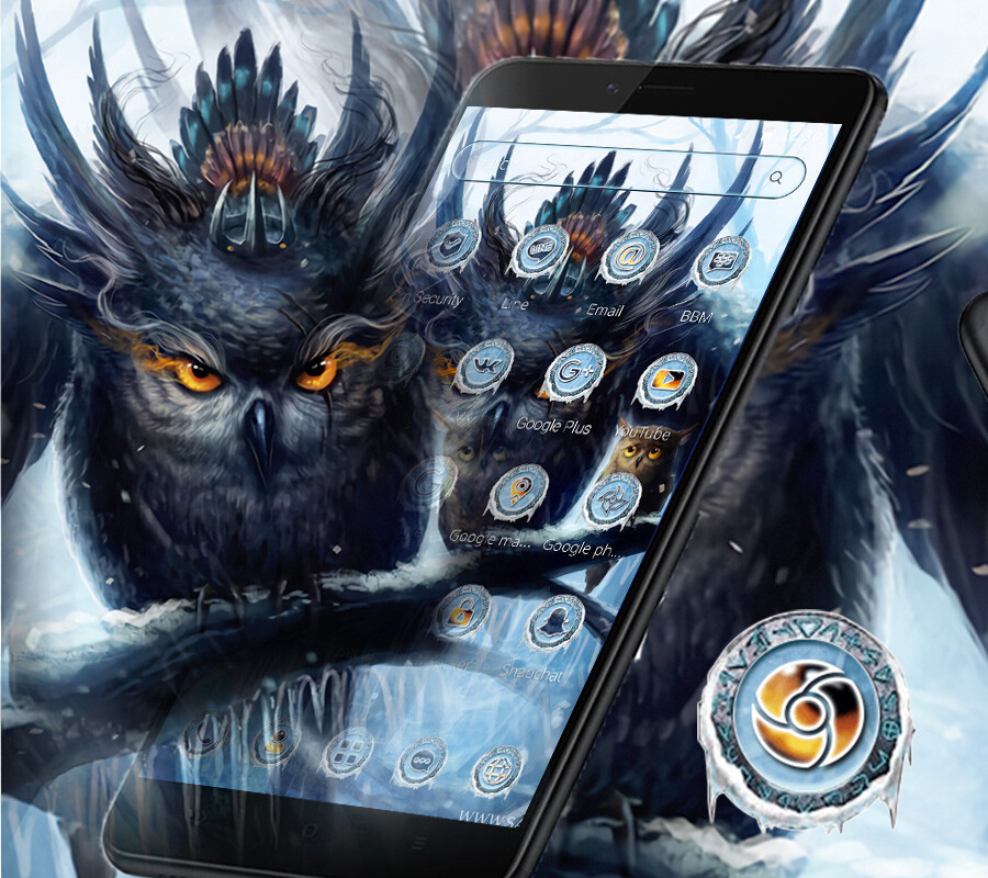 Owl Ice Wallpaper Theme Free Android Theme Download