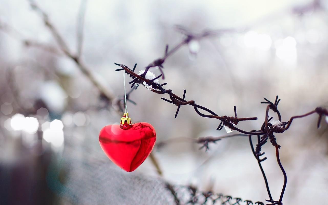 Christmas heart free wallpaper download