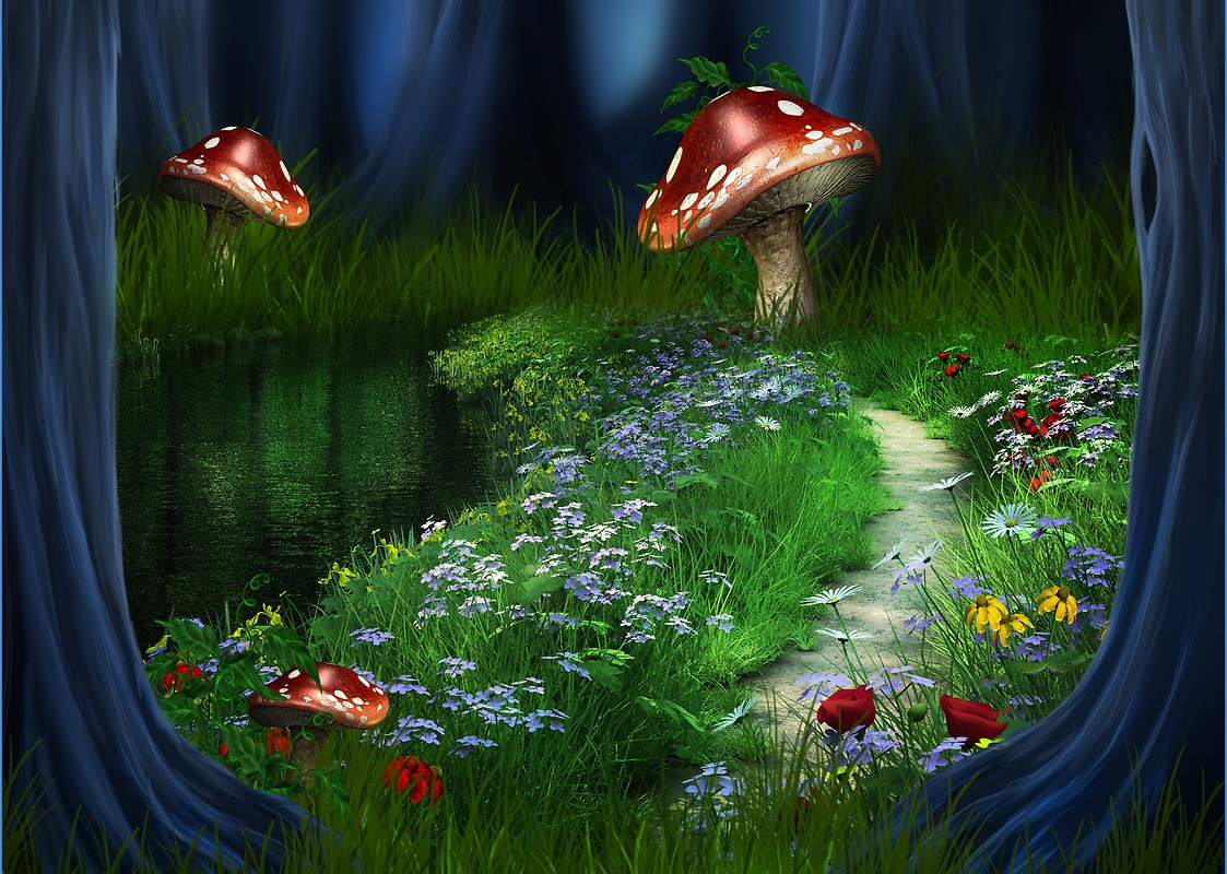 Fantasy Garden Free Wallpaper Download