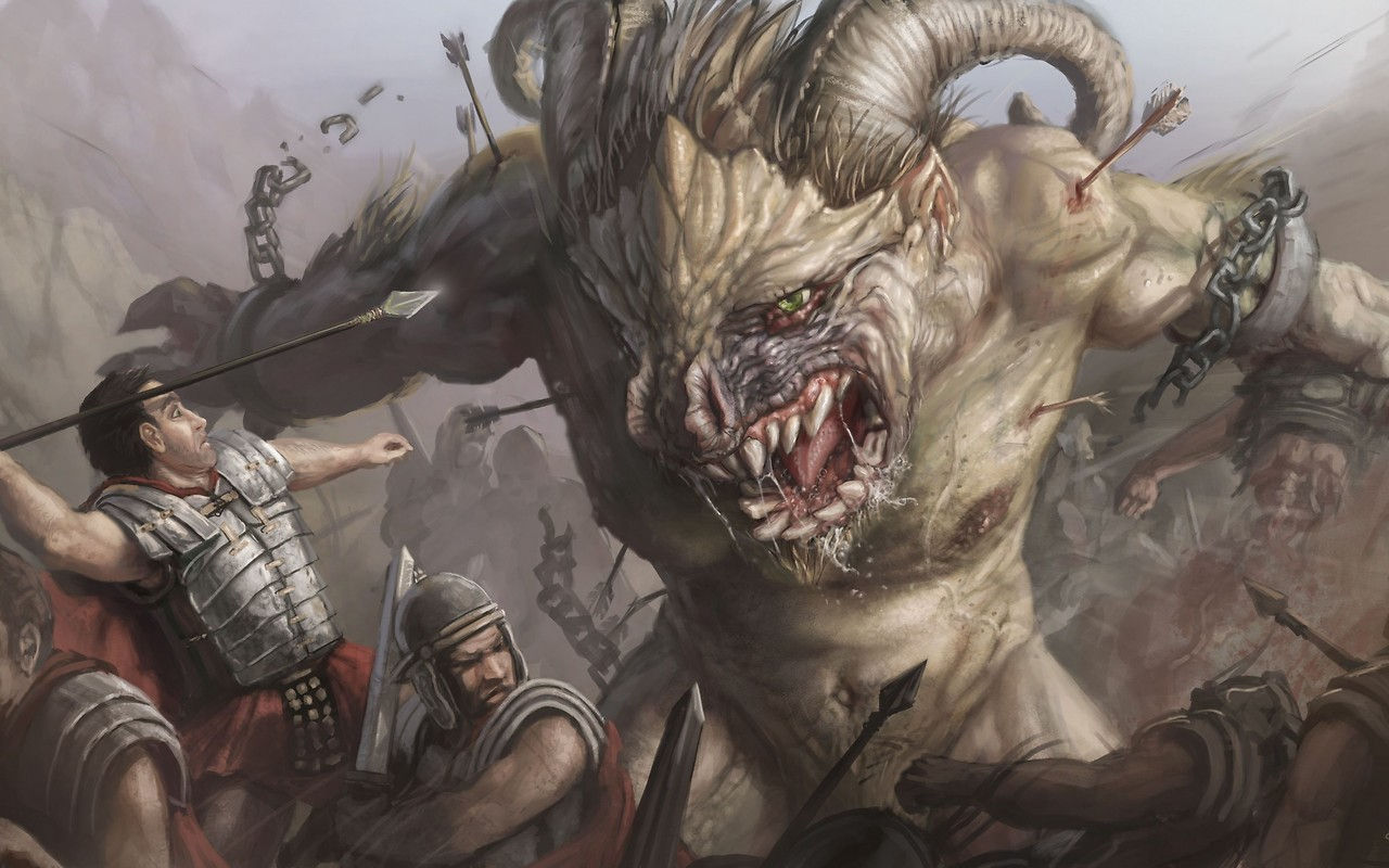 Romans Monsters War Free Wallpaper Download Download Free Romans