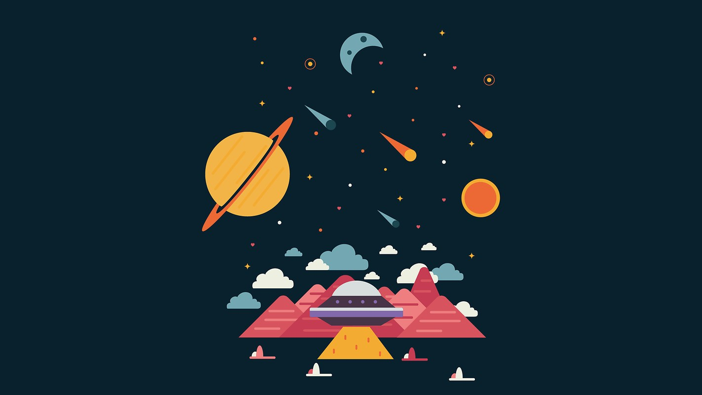 Minimal Space Planets Free Wallpaper Download Download