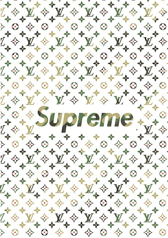 Louis Vuitton X Supreme Camo Free Wallpaper Download