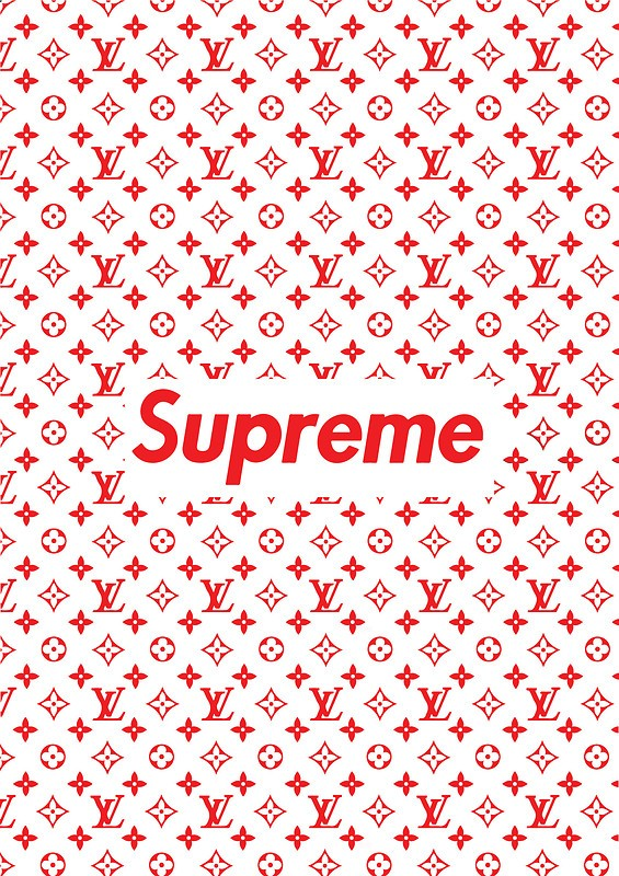 Supreme x Louis Vuitton Free Wallpaper