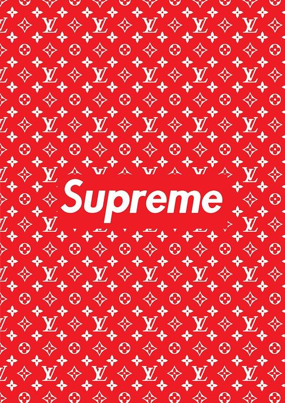 Louis Vuitton X Supreme Free Wallpaper Download Download Free