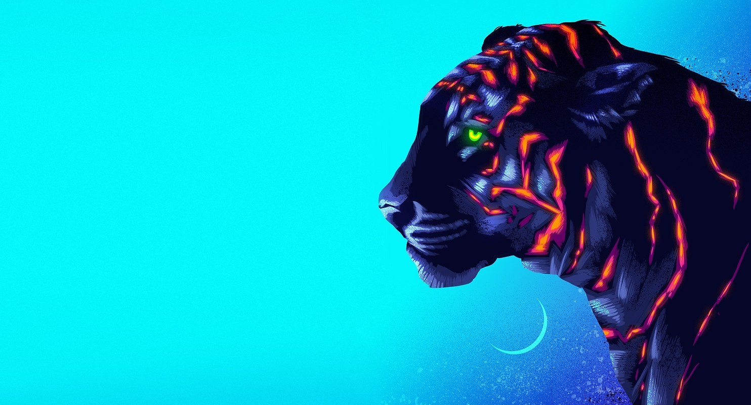 Neon Tiger Art Free Wallpaper Download Download Free Neon Tiger Art Hd Wallpapers To Your Mobile Phone Or Tablet