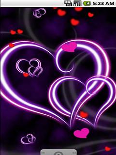 Purple Love Heart Live Wallpaper ...