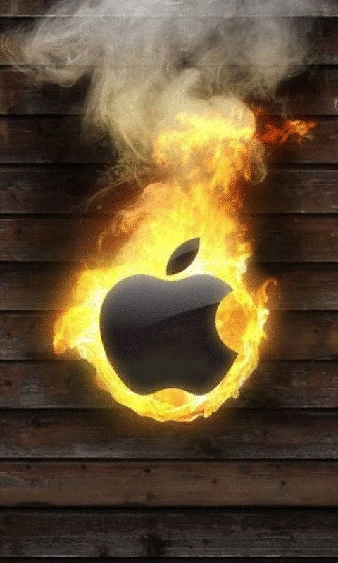 Burning Apple Live Wallpaper Free Android Live Wallpaper