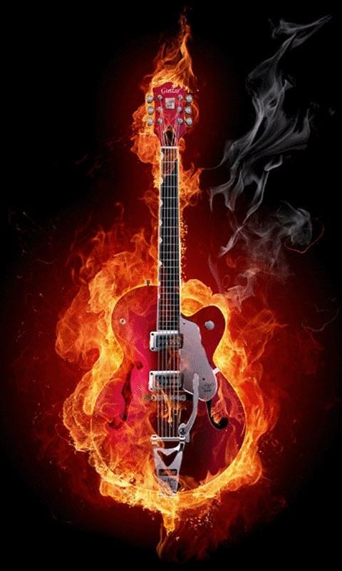 Guitar Fire Live Wallpaper