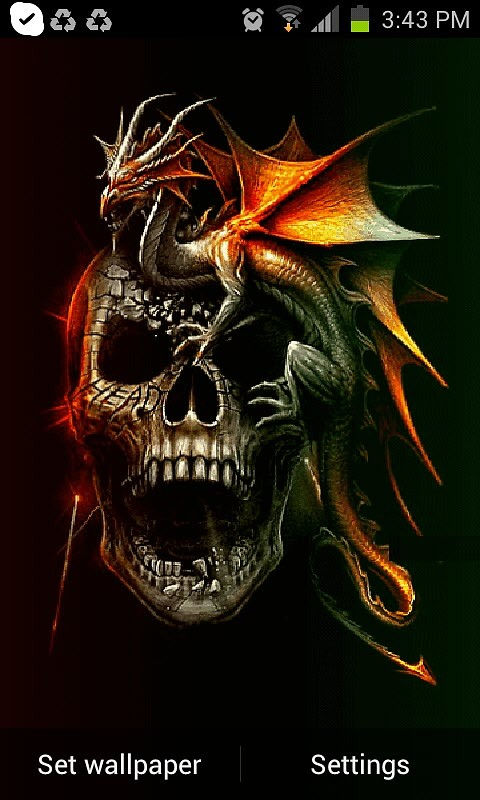 Dragon Skull Live Wallpaper