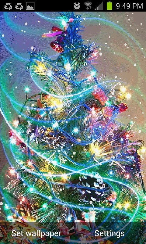 merry christmas live wallpaper free android live wallpaper