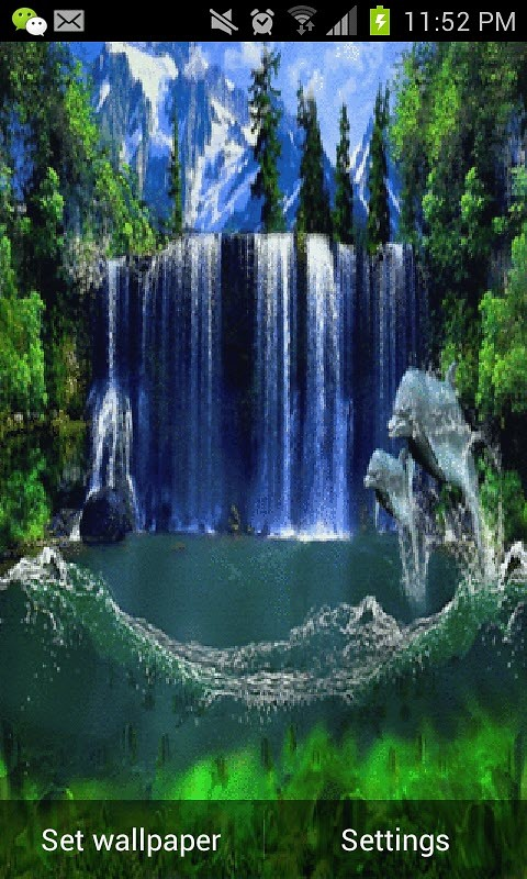 amaging waterfall live wallpaper free android live