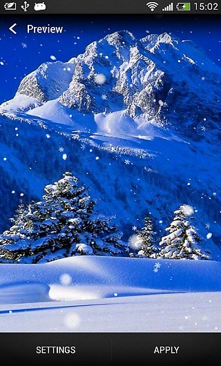winter snow live wallpaper free android live wallpaper