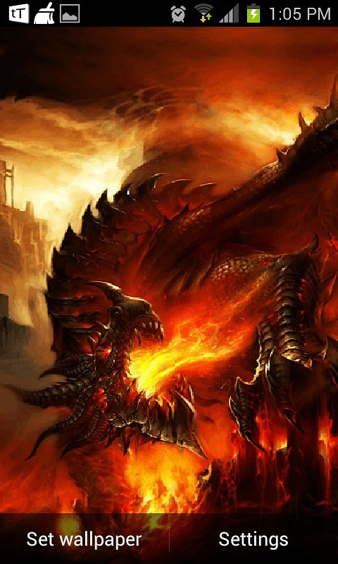 Fire Dragon Live Wallpaper Free Android Live Wallpaper ...