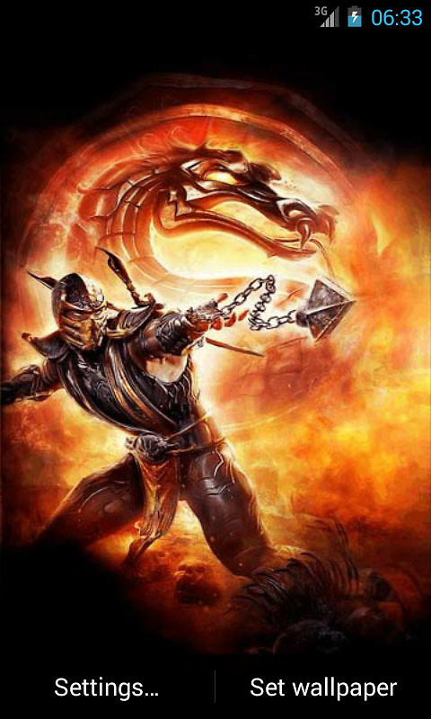 scorpion mortal kombat live wallpaper apk