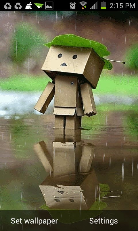 Robot In Rain Live Wallpaper Free Android Live Wallpaper Download