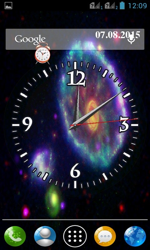 Galaxy Clock Wallpaper Galaxy Clock Wallpaper