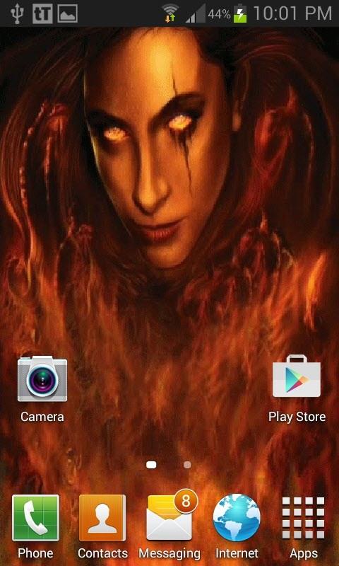 Fiery Vampire Live Wallpaper