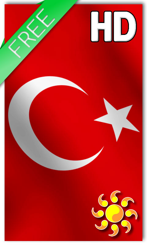 Turkey Flag LWP Free Android Live Wallpaper Download