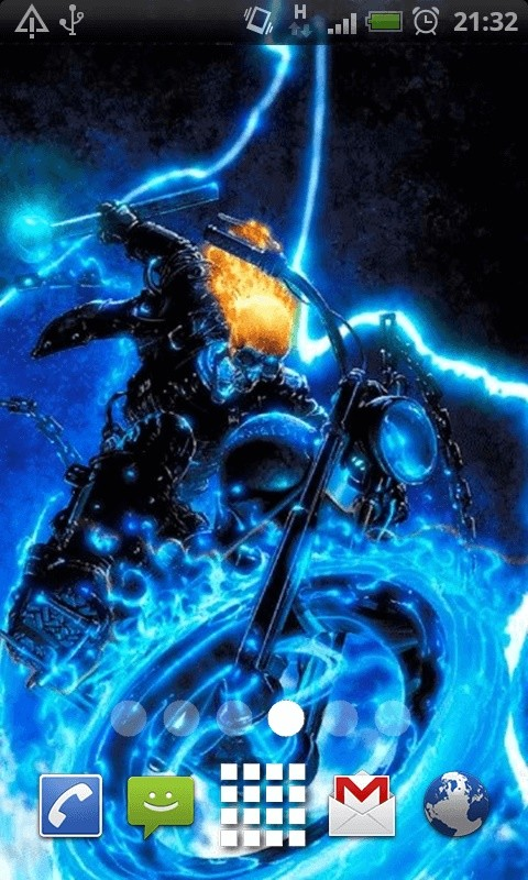 Lightning Ghost Rider Live Wallpaper Theme Lwp Free Android