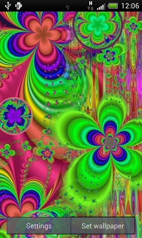 Trippy Flowers Live Wallpaper Theme Background