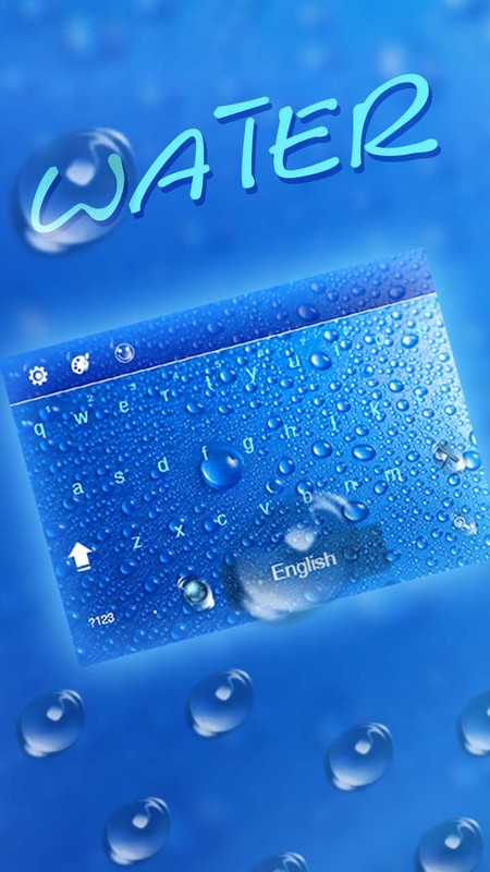 Blue Input Water Drop Keyboard Theme Free Android Live Wallpaper