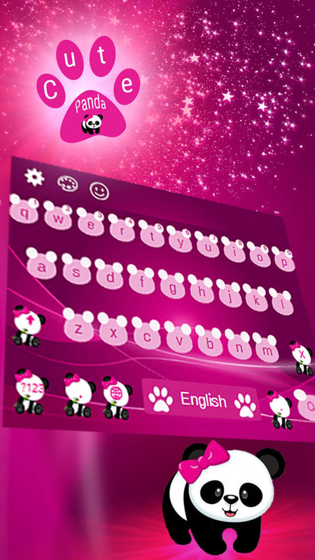 Cute Baby Panda Keyboard Free Android Live Wallpaper Download Download The Free Cute Baby Panda Keyboard Live Wallpaper To Your Android Phone Or Tablet