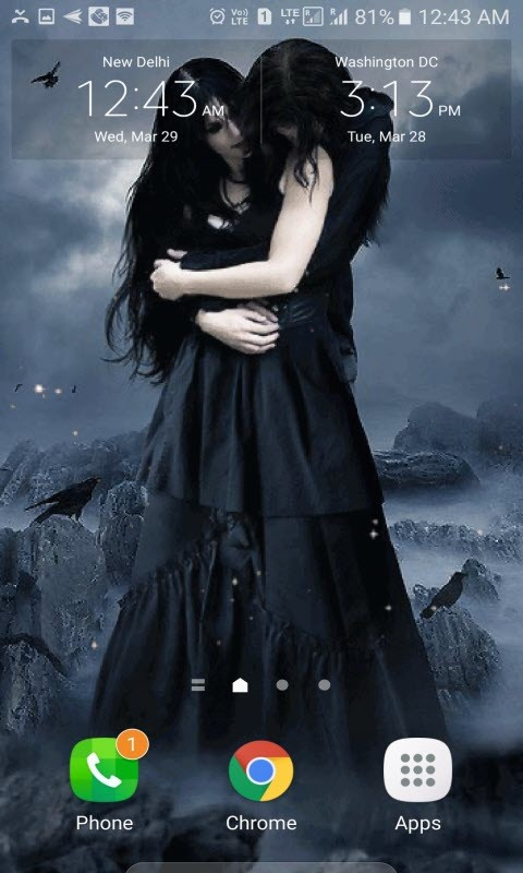 Dark Love Lwp Free Android Live Wallpaper Download Download The