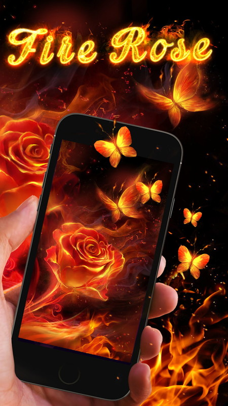 Fire Rose Live Wallpaper Free Android Live Wallpaper
