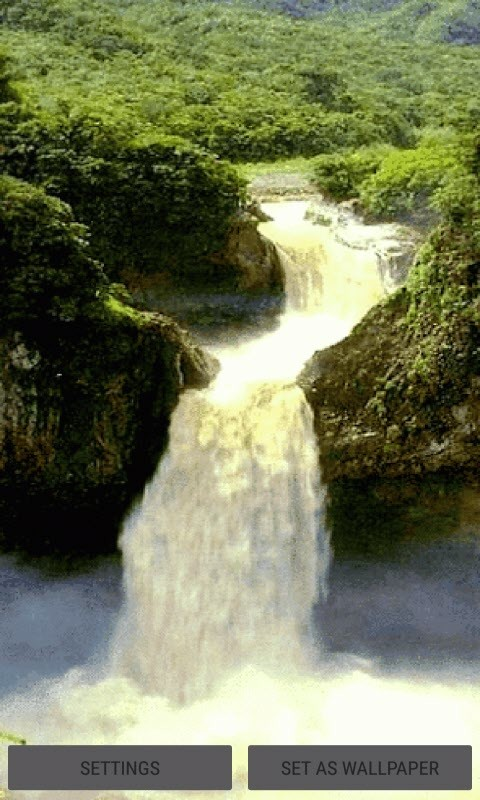 Valley Waterfall Live Wallpaper ...